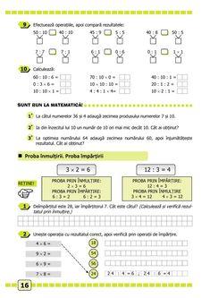 Clasa a II-a : Matematică și explorarea mediului. Clasa a II-a. Partea II - (E3) School Lessons, Preschool Activities, Maths, Mathematics, Parenting, Children, Activities, Rome, Math