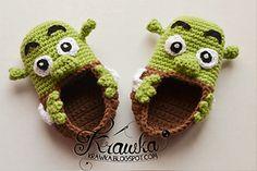 Shrek baby booties