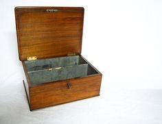 Victorian Walnut Cartridge Storage Box or Catridge Case by Holland & Sons, London
