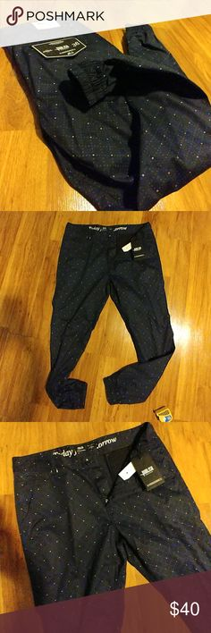 Publish Navy Blue Polka Dot Jogger Slim Fit Pants condition:brand new   brand:Publish   style:chino joggers   size:36   color:Navy    fabric:100% cotton   actual measurements:  waist measures 36Wx30L  rise measures 11 inches  length measures 30 inches crotch to bottom   leg opening measures 5 inches (elastic cuff) Publish Pants Sweatpants & Joggers