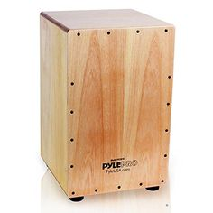 Pyle Stringed Jam Wooden Cajon - Percussion Box - PCJD18