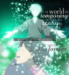 """Tradução: """"Em um mundo tão temporário como este, é assustador imaginar que algo vai durar para sempre."""""""