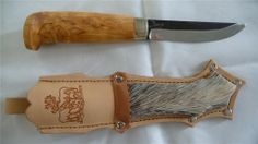 "4"" Handmade Finnish Puukko Camping/Hunting/Bushcraft Knife-FULL TANG & DEER FUR"