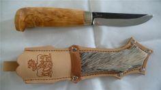 "4"" Handmade Finnish Puukko Camping/Hunting/Bushcraft Knife-FULL TANG & DEER FUR"