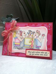 Card using Art Impression Girlfriends In the Tub