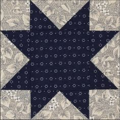 Becky Brown reproduction block         Vintage indigo print from early 19th century   The figure is slightly blue in this print with a ...