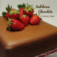 Baking Taitai 烘焙太太: Valrhona Chocolate Cotton Cake- highly recommended! 法芙娜巧克力棉花蛋糕 - 强推!(中英加图对照食谱)