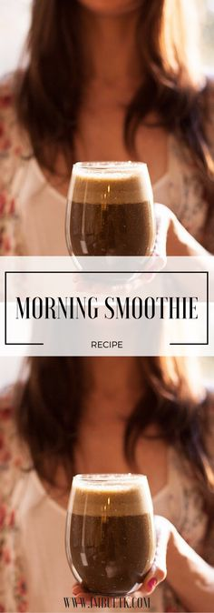 Superfood packed delicious way to start your day!!!  Link: http://www.imbuetk.com/my-morning-smoothie