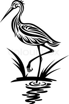 Stock vector of 'Heron bird'