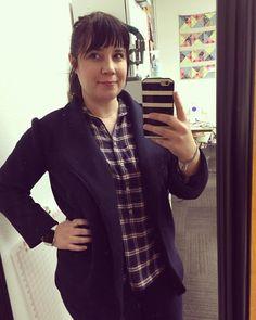 I made myself a super cozy blazer. A blazer people. I made a BLAZER. Who knew I could do that?!!  #mtsew #morrisblazer by kateslewis