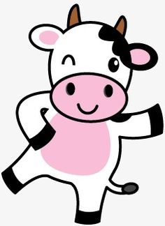 Cartoon cow vector material PNG and Vector Cartoon Cow, Cute Cartoon, Baby Animals, Cute Animals, Cow Birthday, Cow Vector, Doodles, White Cow, Cute Cows