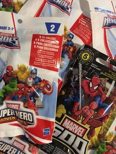 New lot of 10 playskool marvel super heroes blind bags Marvel 500 Series 5 Lot  | eBay
