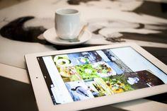 Apple Ipad on the coffe table