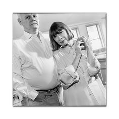 joan didion with her late husband John Dunne (photo by mary ellen mark)