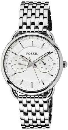 Fossil Women's ES3712 Tailor Silver-Tone Stainless Steel Watch ** Be sure to check out this awesome watch.