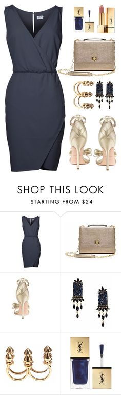 """""""Date night outfit inspiration!"""" by runway2street ❤ liked on Polyvore featuring Isa Tapia, Otazu, Bernard Delettrez and Yves Saint Laurent"""