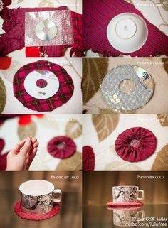 Cd Coasters Recycled Cds