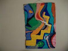 Post Modern Acrylic Paintings by artist, novelist, Farrell Hamann