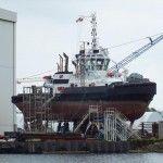 Schlepper Hunte in der Neuen Jade Werft