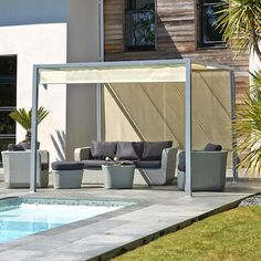 malaga pergola 3x3 en aluminium achat vente tonnelle barnum pergola 3x3 en aluminium. Black Bedroom Furniture Sets. Home Design Ideas
