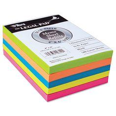Fluorescent Color Memo Sheets, 20 lb, 4 x 6, Assorted, 500 Sheets/Pack - Snap Supplies  TOP99622