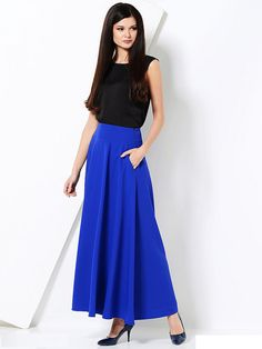 Hey, I found this really awesome Etsy listing at https://www.etsy.com/listing/241876957/cobalt-blue-maxi-skirt-with-pockets