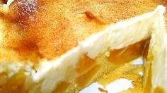 This recipe yields a fabulous 10-inch deep-dish pie with an unusual crust made with vanilla pudding, flour, milk, butter, and a bit of baking powder. Sliced peaches are spread over the crust and topped with a fluffy cream cheese layer. It 's then baked and chilled before serving.