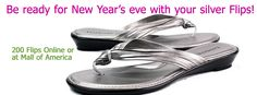 {12 days of Fashion & Fun Flips}  Day 11: Be ready for New Year's eve with your silver Flips! #flipsstore $34.99