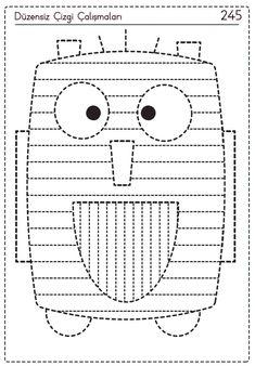 Simple Car Drawing, Drawing For Kids, Preschool Education, Cute Monsters, Car Drawings, Motor Activities, Pre School, Fine Motor, Worksheets