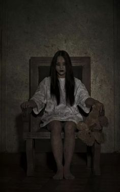 Waiting For You Sometimes I'll wake up in the middle of the night. And she's just sitting there. Staring at me. And waiting. http://jacobmesmer.com/bargain-basement-the-eternal-torture/ #horror #haunted house #ghost story #short story