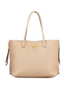 Prada Daino Double Handled Leather Tote Bag (classic and gorgeous)