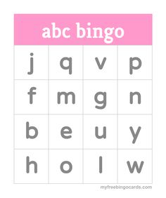 Kids abc Alphabet Bingo More
