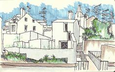 Urban Sketchers Portugal: Arquitectura contemporânea em Alcobaça