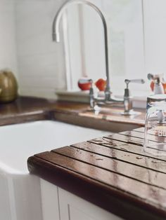 For a water-resistant barrier, all cutouts, edges, and surfaces must be treated with your choice of finish to seal out moisture. Cutouts that extend slightly beyond the sink lip and over the bowl prevent standing water from saturating the edge, making the counter easier to maintain