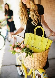 Gorgeous yellow Celine bag via MATTE & SEQUINS