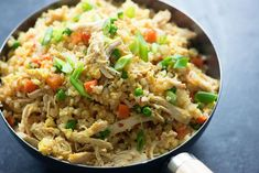 Chicken Fried Cauliflower rice: made with one small bag carrots and one small bag peas. Added broccoli for 5 lunches. Low Carb Chicken Recipes, Rice Recipes, Cooking Recipes, Healthy Recipes, Keto Chicken, Rotisserie Chicken, Creamy Chicken, Baked Chicken, Healthy Sauces