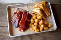 Ribs and tots!