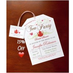 Take 15% off Tea Party Bridal Shower Invitations by BeforeTheRings