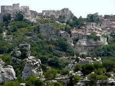 Les Baux de Provence - Provence-Alpes-Côte d'Azur - France (Went last summer - so beautiful and fun to climb thru the ruins of this Medeival castle)