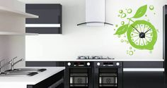 Add some freshness to your kitchen with this Lemon Zest vinyl stencils. This is also a great wall decal for bakeries, smoothies shop, coffee shops or any place you serve food. Order it in lime green and you have a lime decal, or get in in orange and you have yet another fruit.