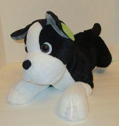 "SOLD! New Boston Terrier 19"" Plush Stuffed Animal Puppy Walmart Black White NWT #Walmart"