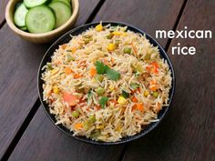 mexican rice recipe how to make restaurant style authentic mexican rice is part of Mexican rice recipes mexican rice recipe how to make restaurant style authentic mexican rice with detailed phot - Lunch Box Recipes, Veg Recipes, Spicy Recipes, Curry Recipes, Indian Food Recipes, Vegetarian Recipes, Freezer Recipes, Freezer Cooking, Flavoured Rice Recipes