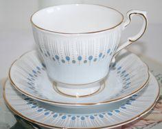 Paragon Tivoli trio teaset with a georgeous vintage jugendstil pattern