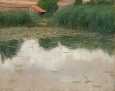 "windypoplarsroom:  Alexander Harrison""The Lily Pond"""