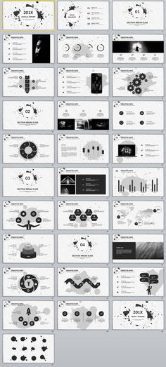 30+ Best gray annual report PowerPoint template