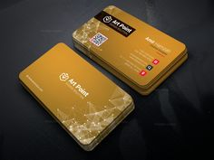 Golden Professional Corporate Business Card Template 001314