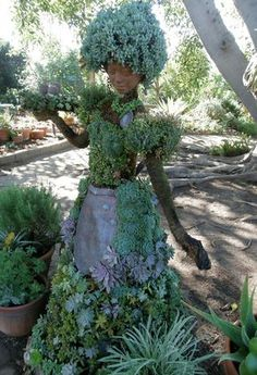Succulent Hostess :)........what a great whimsical creation ...