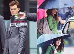 Fifty Shades of Grey cast, Jamie Dornan as Christian Grey and Dakota Johnson as Anastasia Steele, return to Vancouver for reshoots in downtown, UBC (PHOTOS, VIDEOS) (Oct 13, 2014)