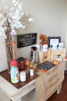 Create a coffee station for Thanksgiving your guests will enjoy! #Feast4All #shop