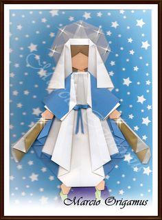 Nossa Senhora das Graças, por Marcio Jorge Galvão Origamus - Niterói / Rio de Janeiro / Brasil.